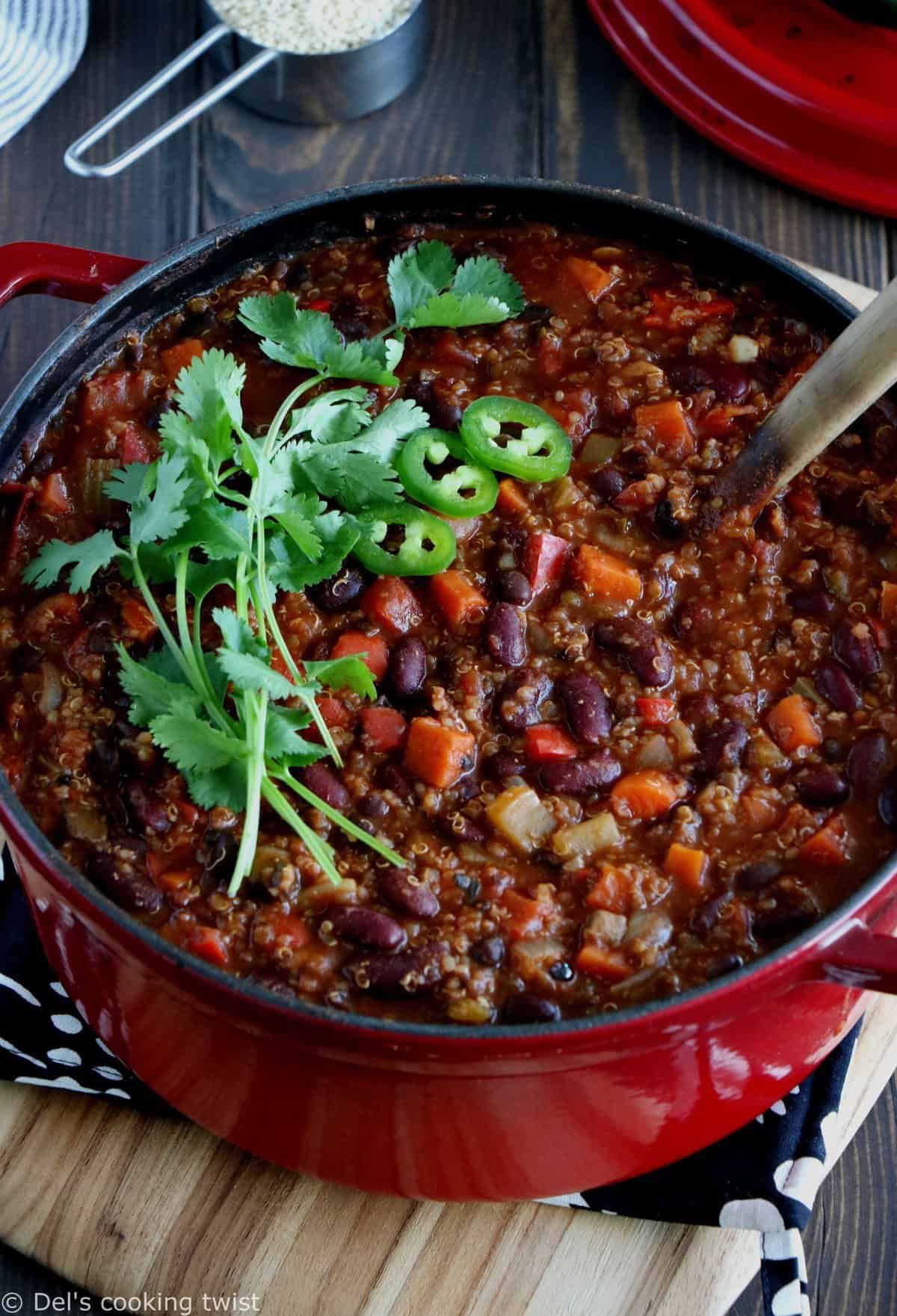 One-Pot Vegan Quinoa Chili