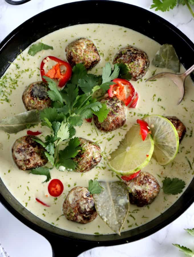 Thai Green Curry Vegan Meatballs