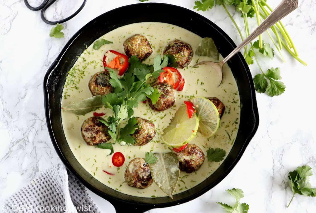 Thai Green Curry Vegan Meatballs