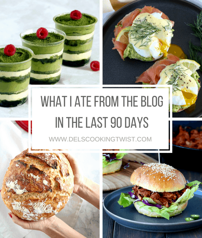 what i ate from the blog in the past 90 days