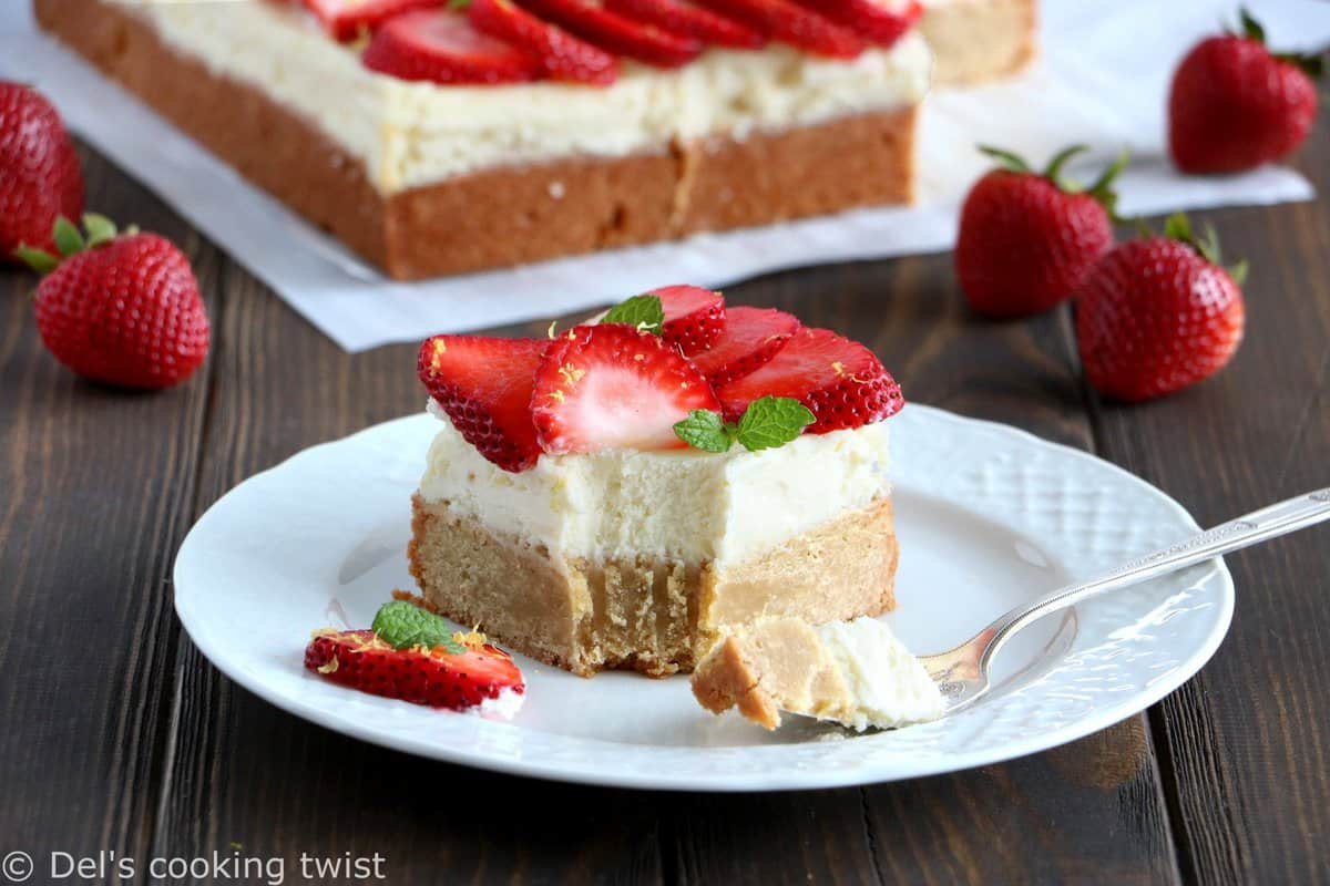 Strawberry Cheesecake Blondies