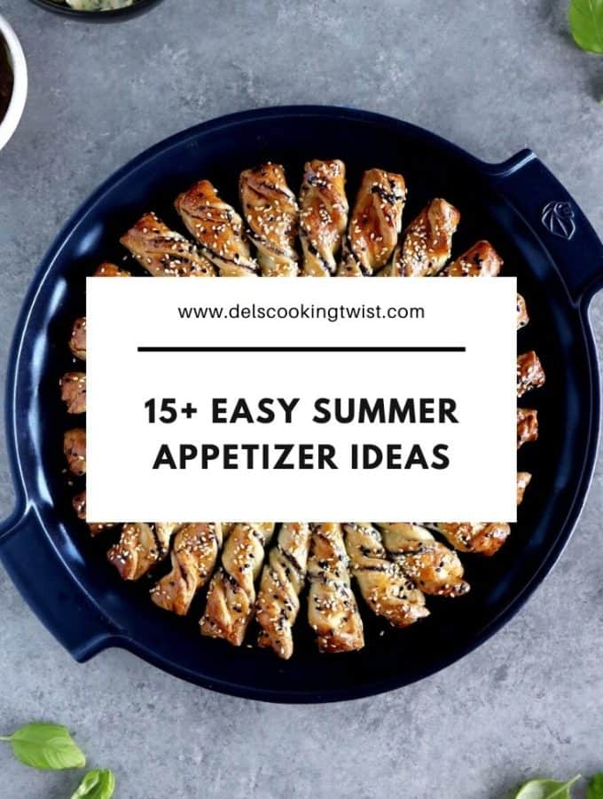 15+ amazing shareable snacks and appetizers to choose from for your summer gatherings, garden parties or any other occasion of your choice.