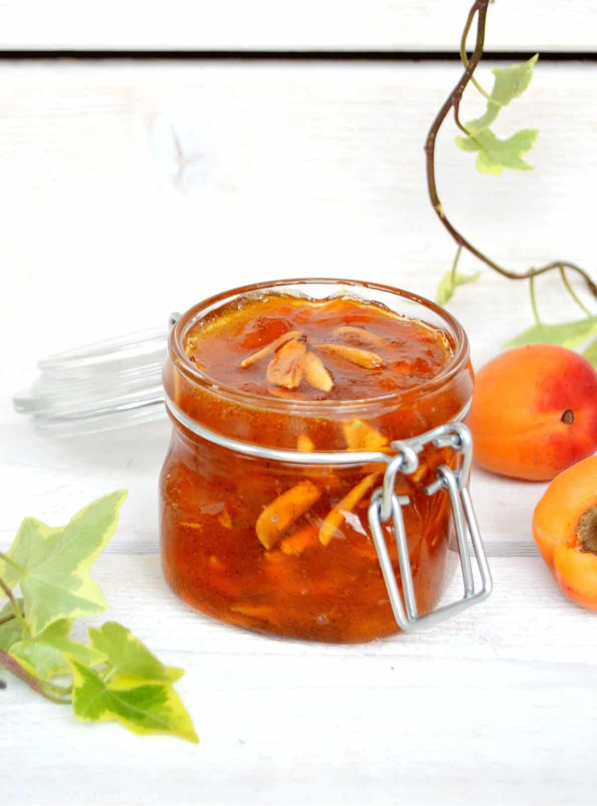 Almond Apricot Jam with Vanilla