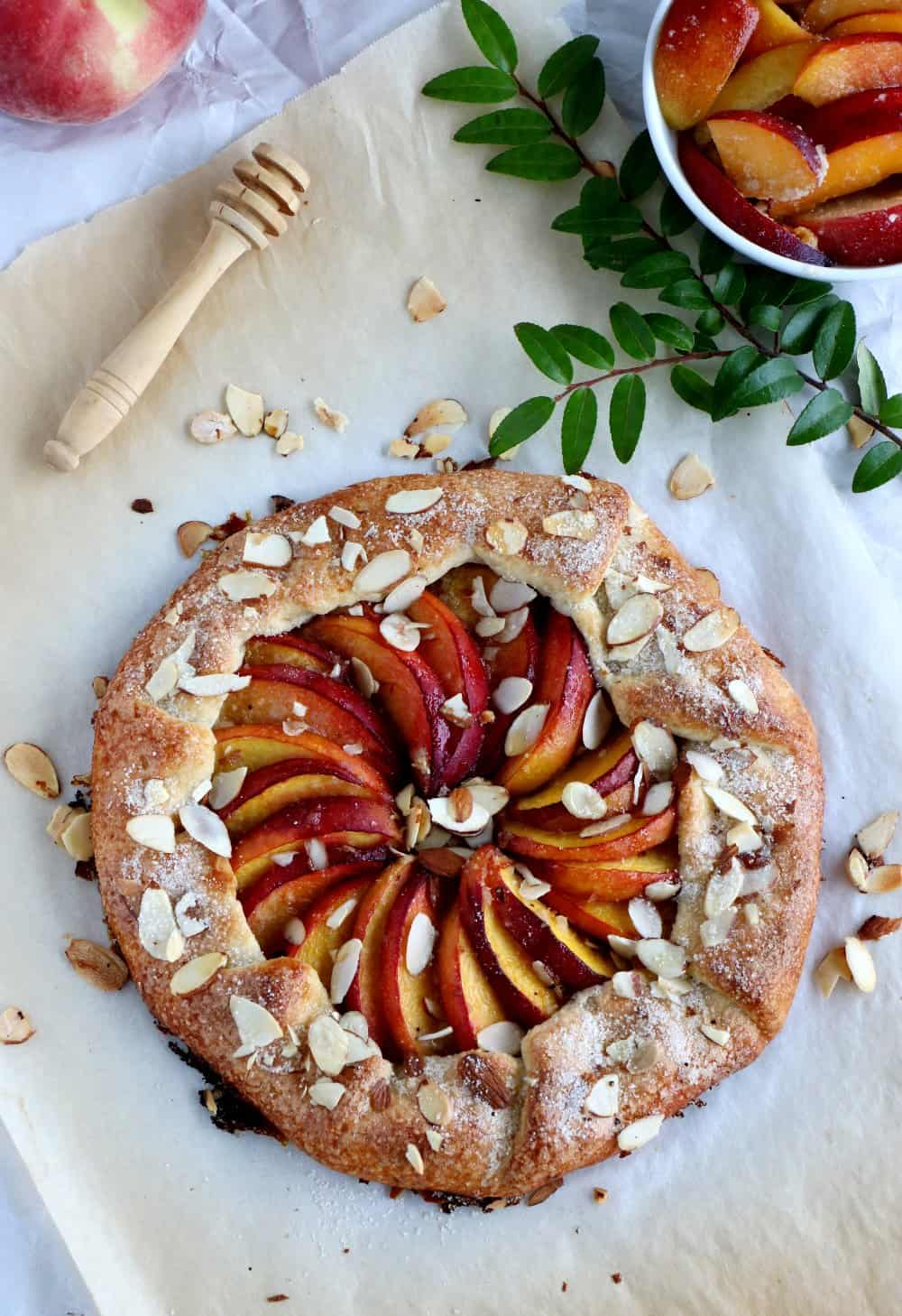 Honey Peach Galette with Buttermilk Crust