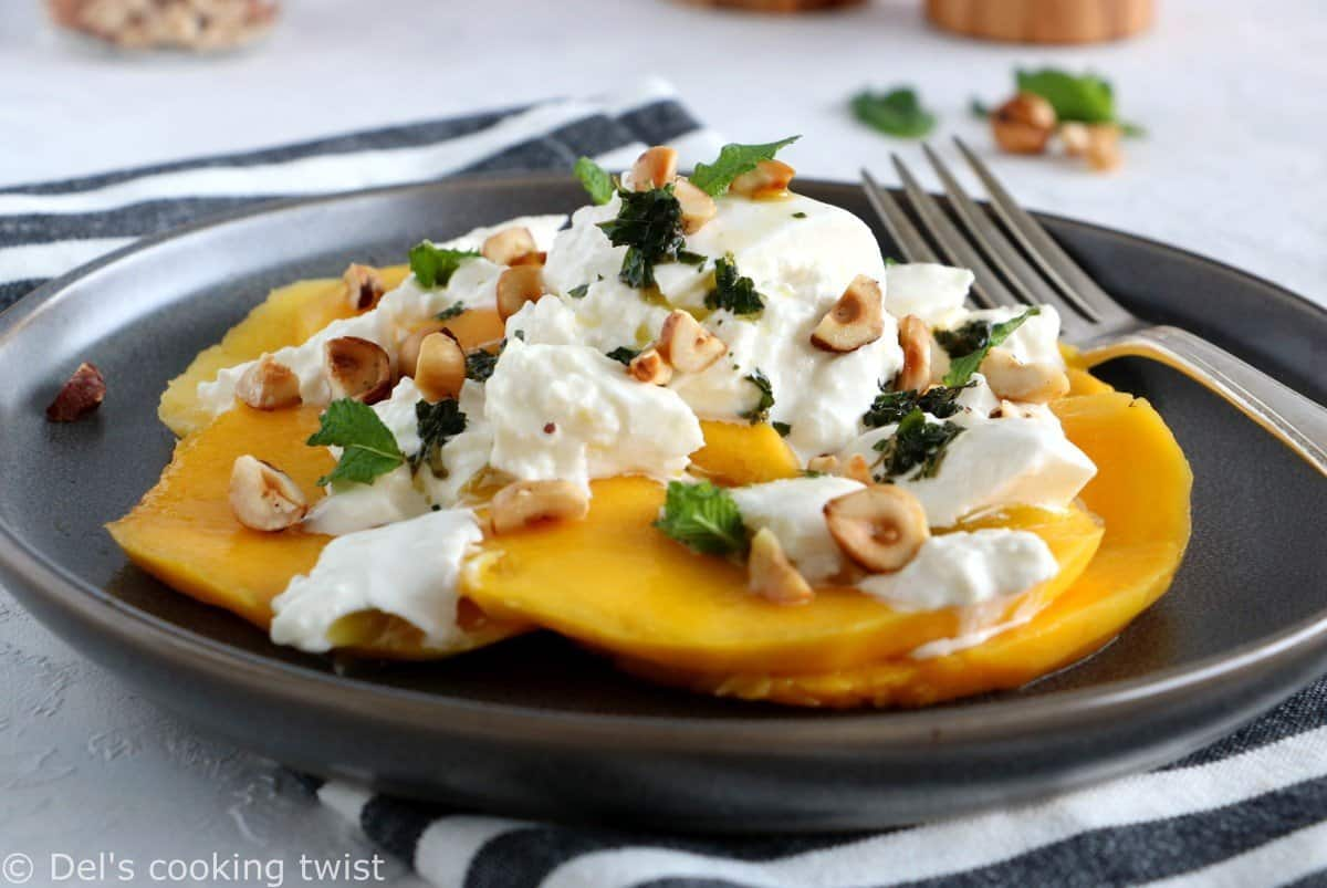 Nutty Mango Burrata Salad
