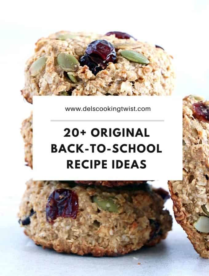 20+ Original Back-to-School Recipes include cozy breakfasts, healthy snacks on-the-go and other freezable baked good ideas kids love.