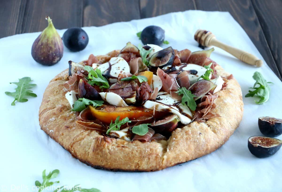 Fancy Balsamic Tomato Galette with Prosciutto and Fresh Figs
