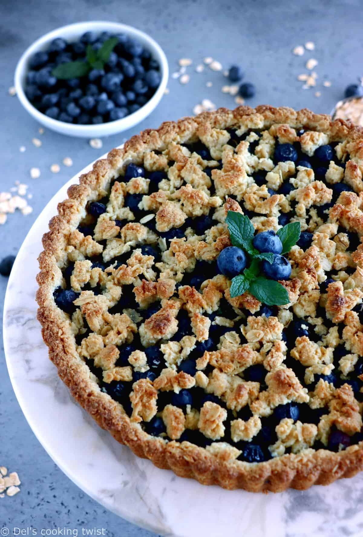 Blueberry Pie with Oat Crust