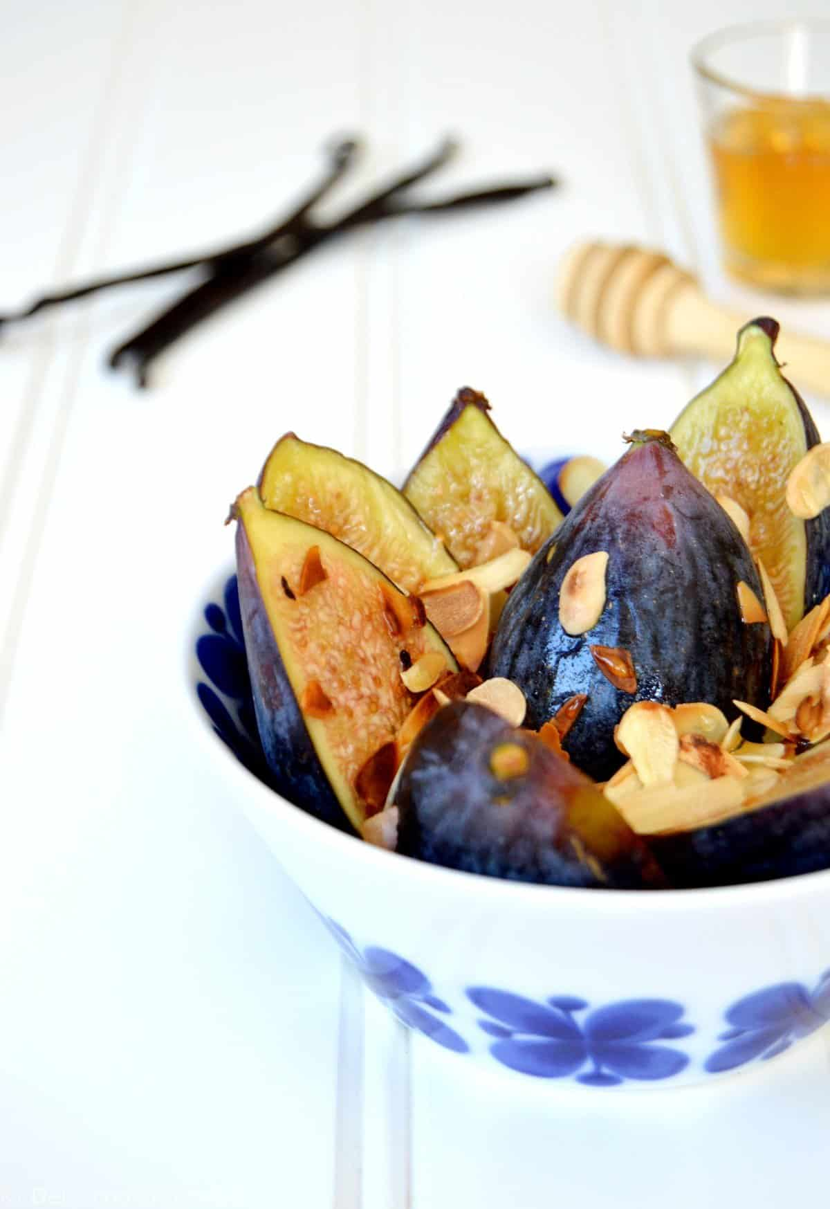 Fig Salad with Vanilla Pepper Syrup
