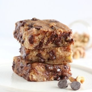 Healthy Vegan Chocolate Chip Blondies