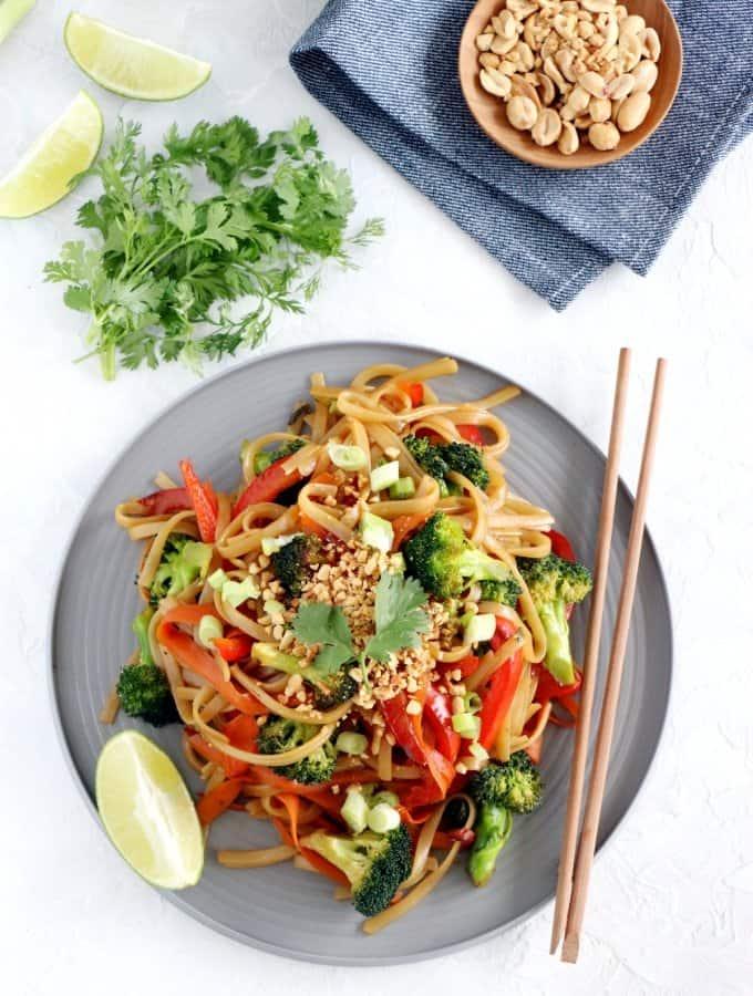 Pad Thai facile (vegan, sans gluten)