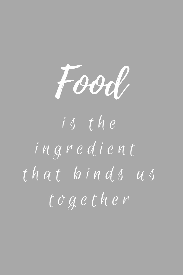 Food is the ingredient