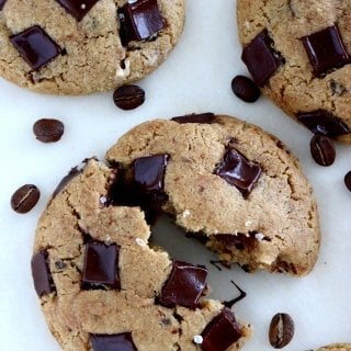 Brown Butter Coffee Tahini Cookies