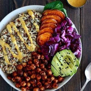 Curry Chickpea Sweet Potato Buddha Bowl