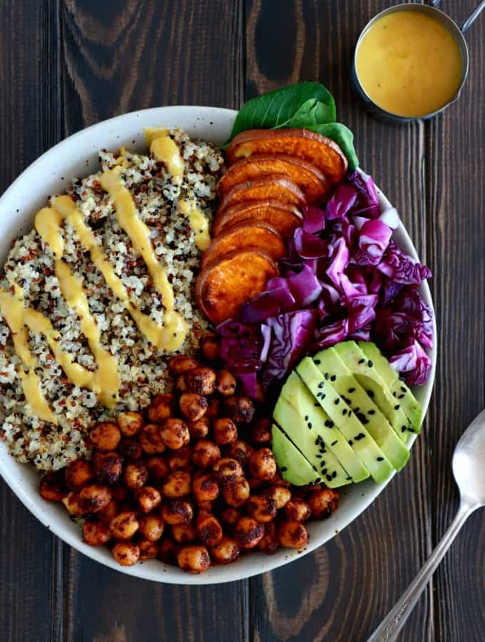 Spiced Chickpea Sweet Potato Buddha Bowl