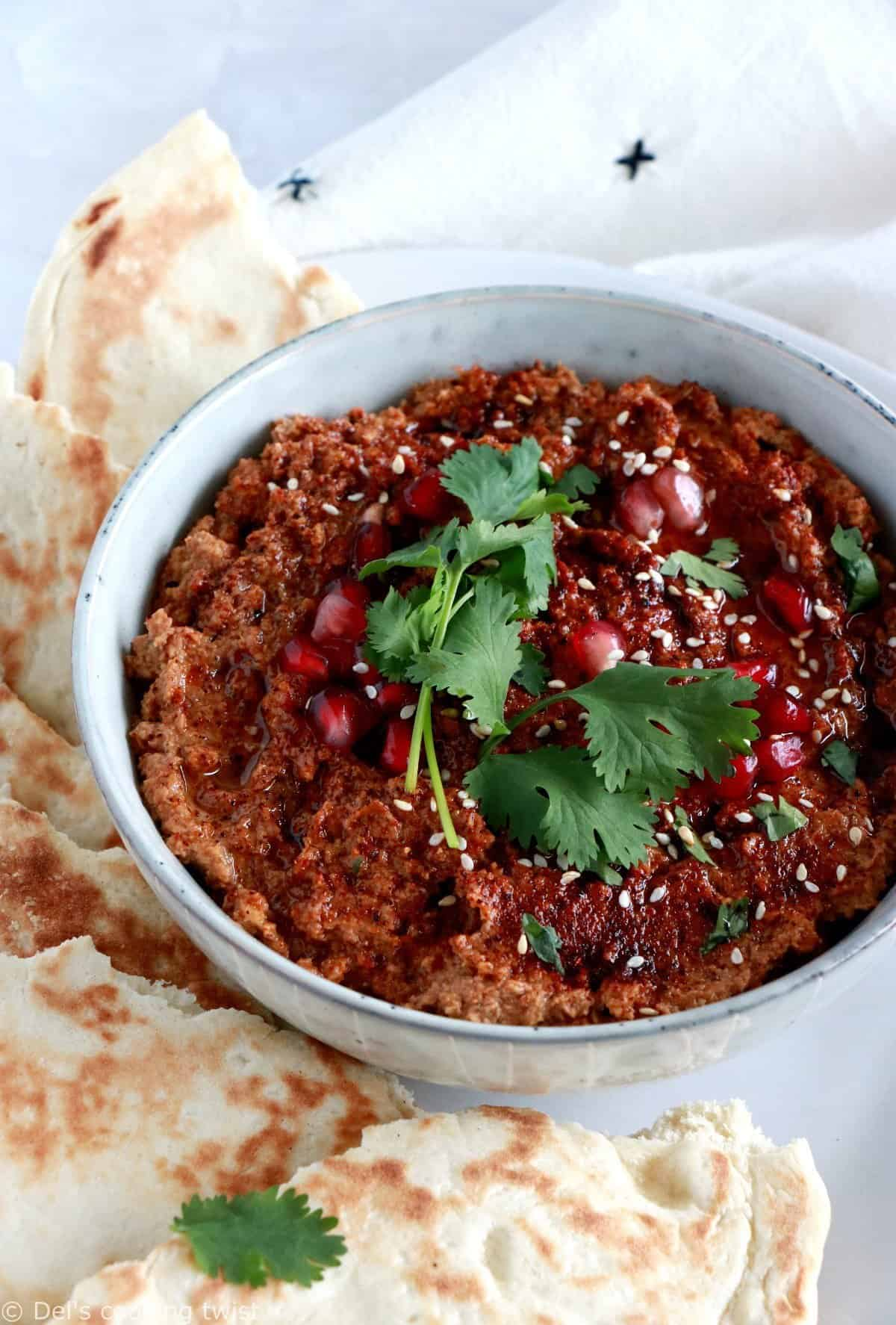 Harissa Cauliflower Walnut Dip
