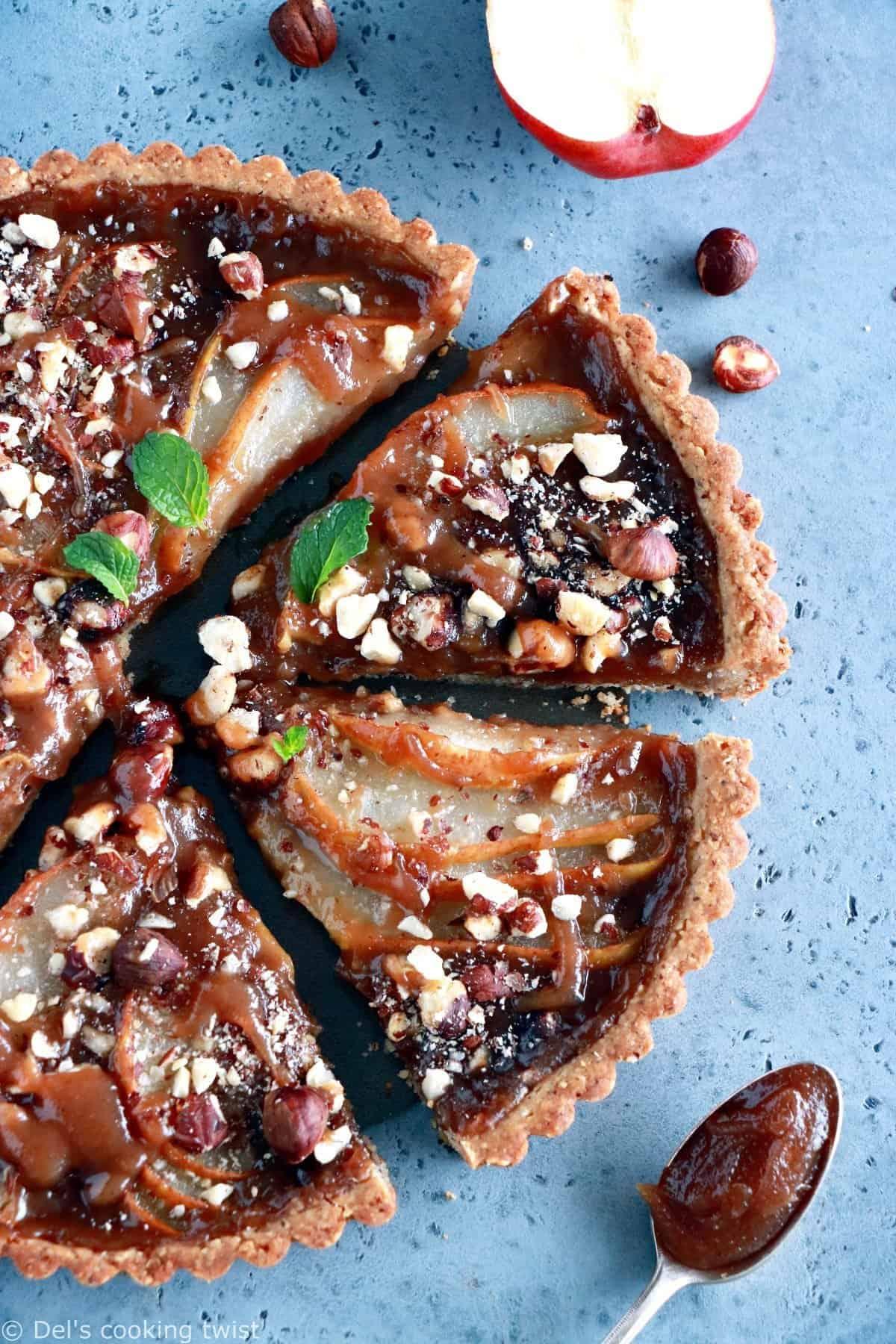 Pear and Chestnut Tart with Hazelnut Crust
