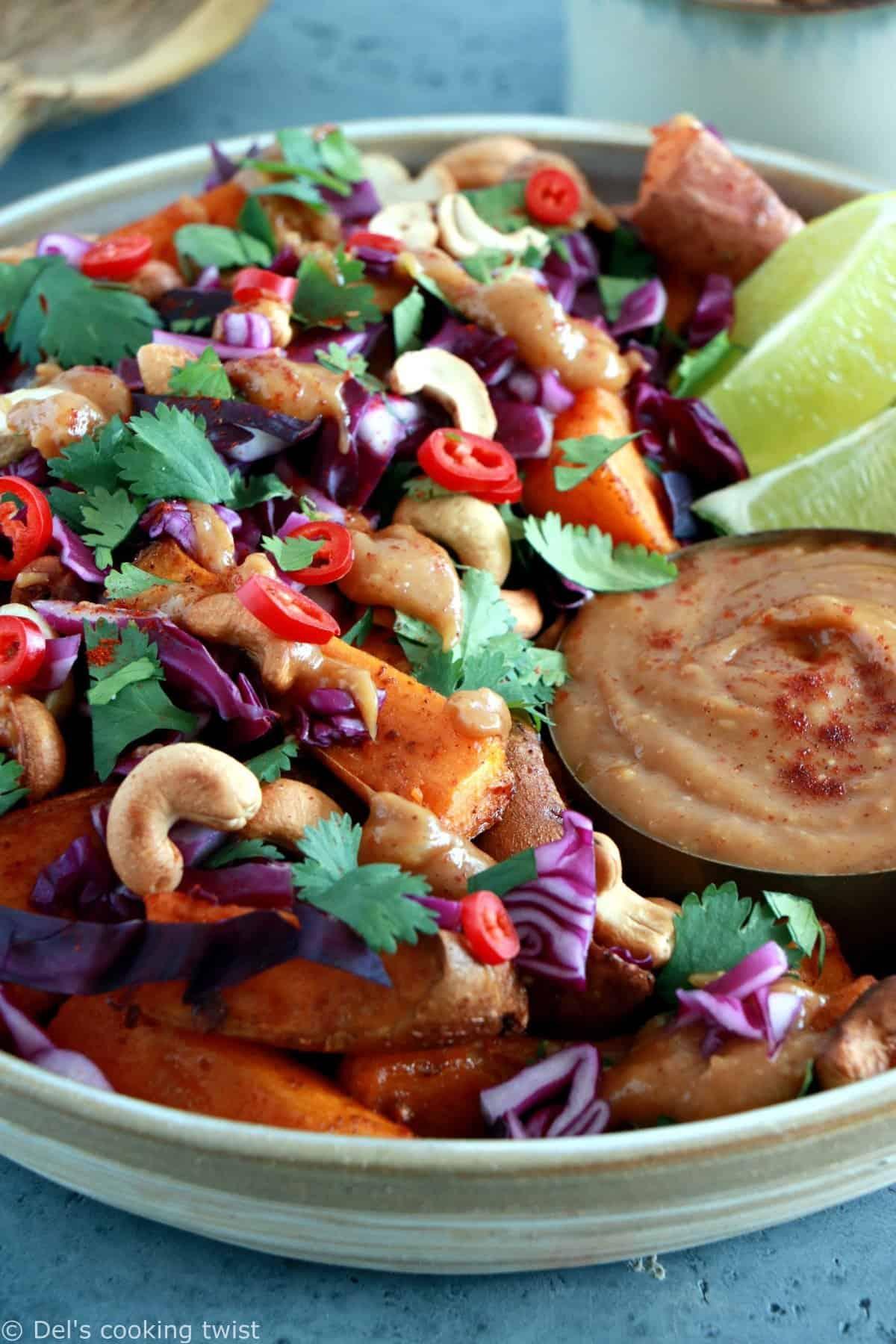 Thai Peanut Sweet Potato Wedges