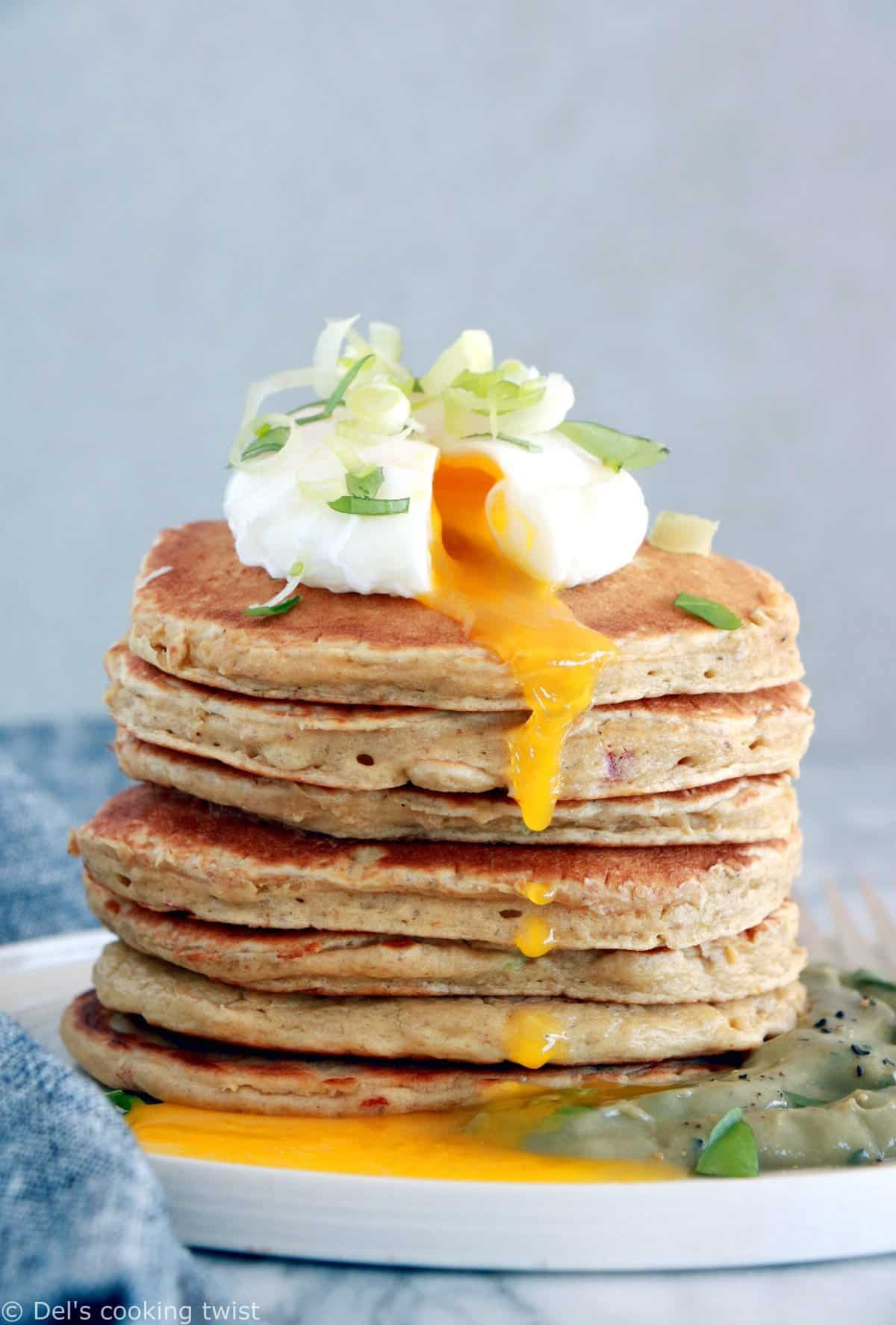 Pancakes salés à la farine de pois chiches (sans gluten)