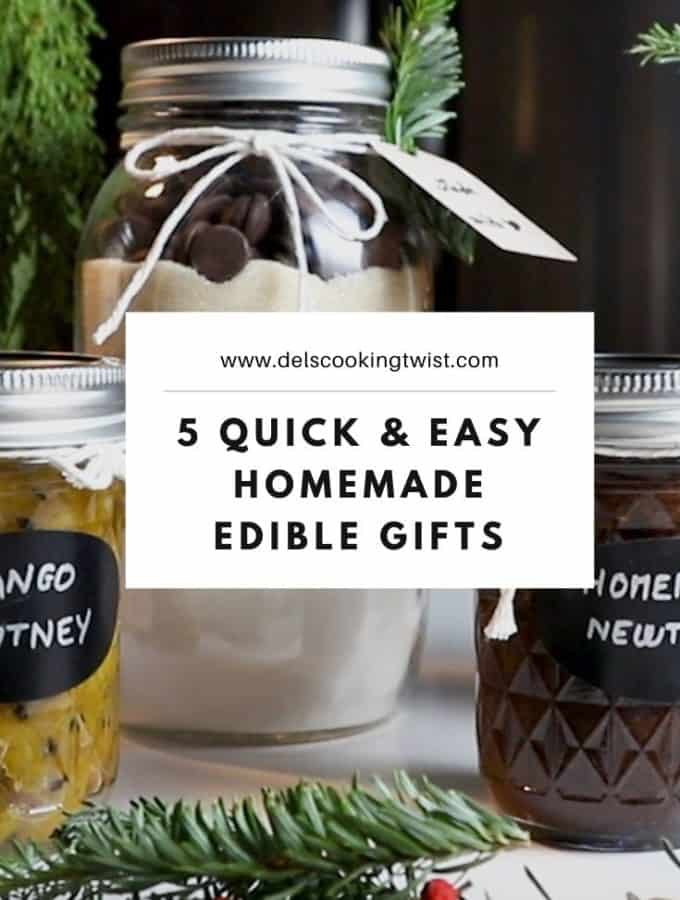 5 Easy Homemade Edible Gifts. Homemade edible gifts are personal, thoughtful, and work for any occasion. Here are5 easy gourmet presents to prepare for your friends and family!