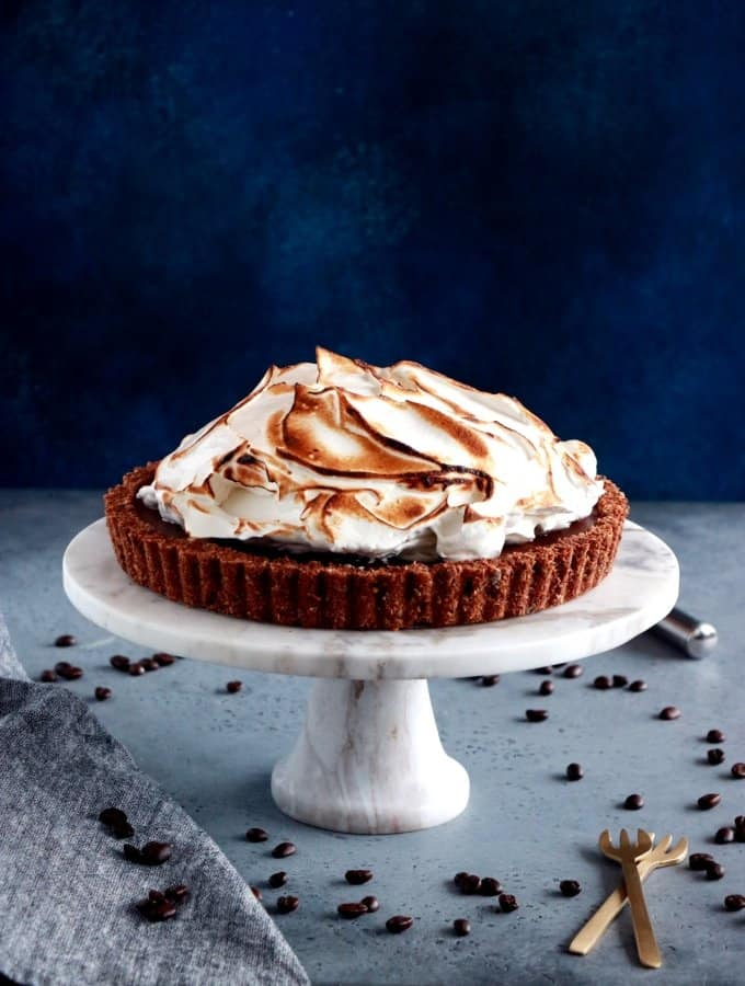 Chocolate Coffee Meringue Pie (+ Giveaway)
