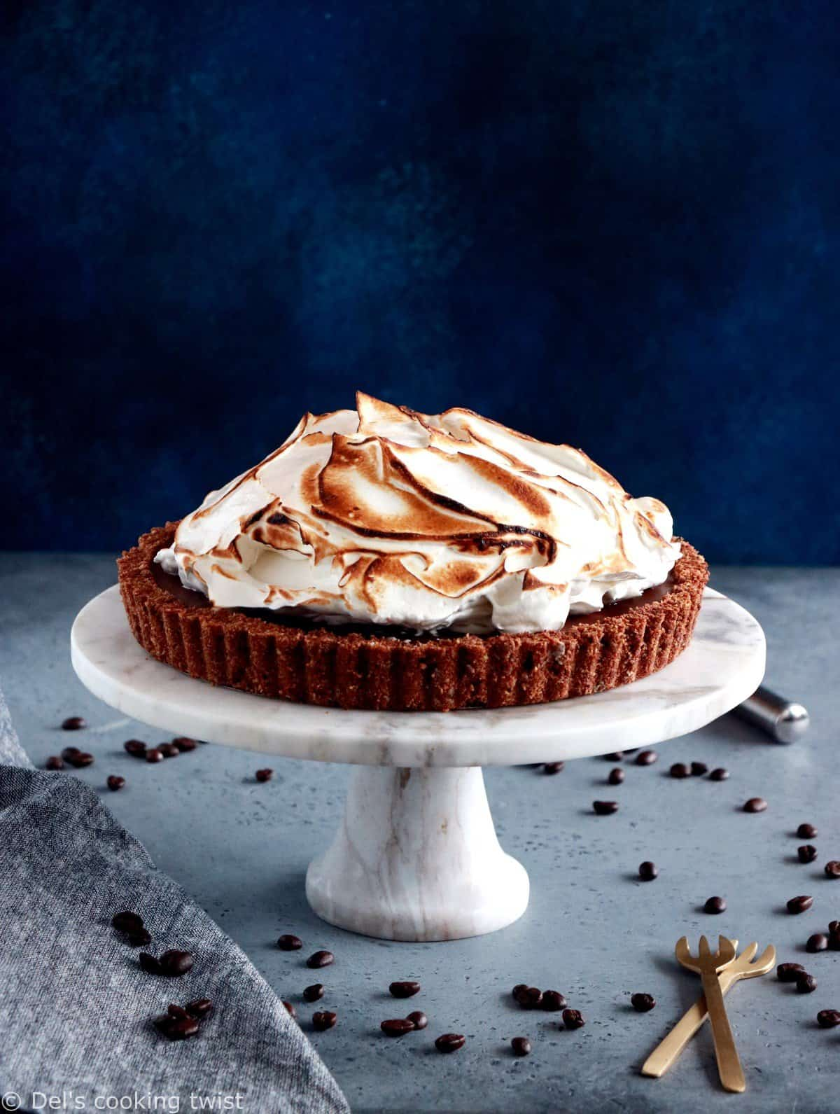 Chocolate Coffee Meringue Pie