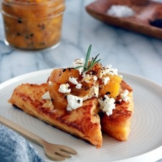 Mango Chutney Goat Cheese Brioche French Toasts