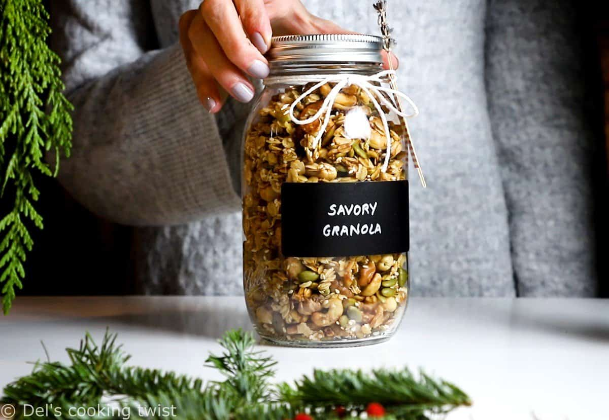 Savory Granola Homemade Edible Gifts