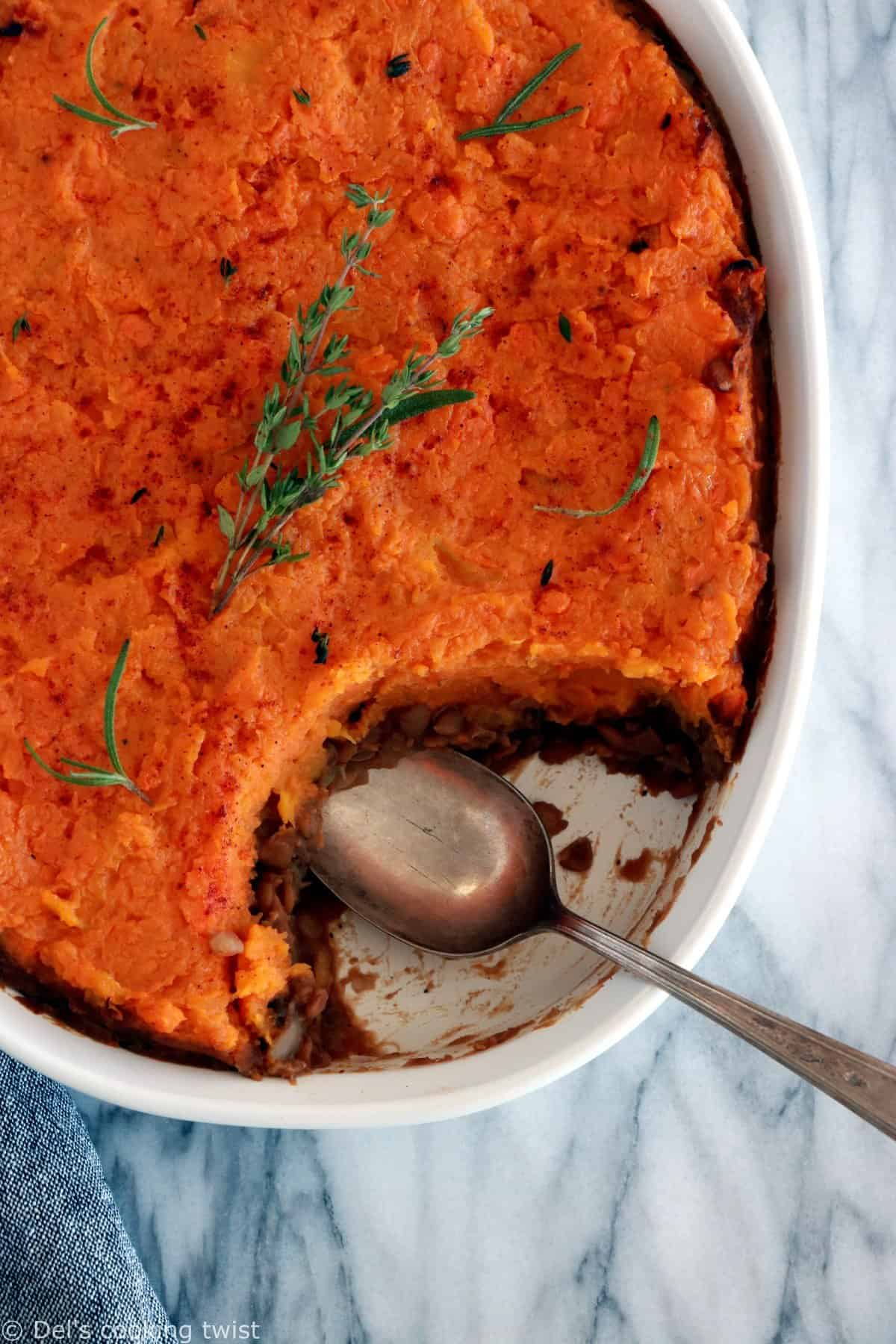 Vegan Pumpkin & Sweet Potato Shepherd's Pie