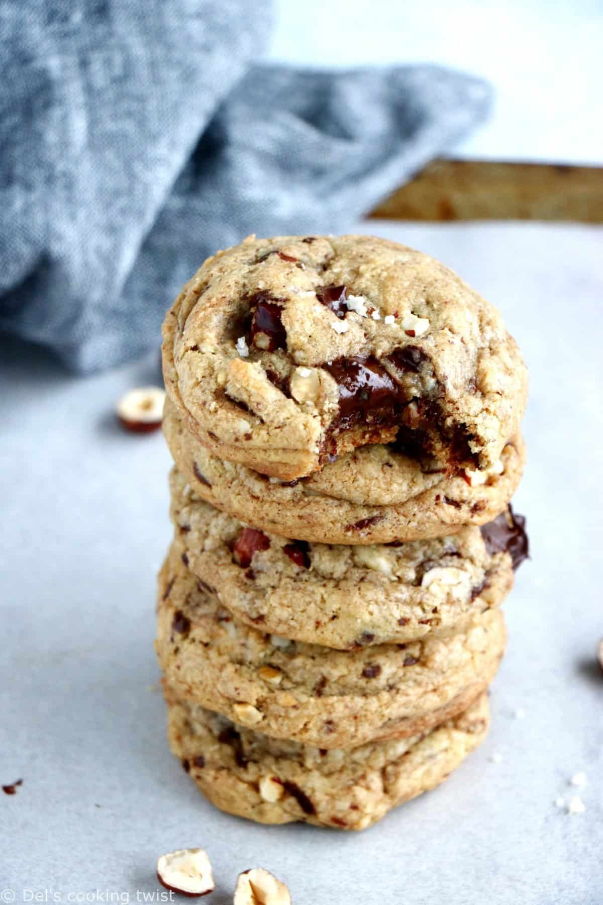 Hazelnut Chocolate Chunk Cookies