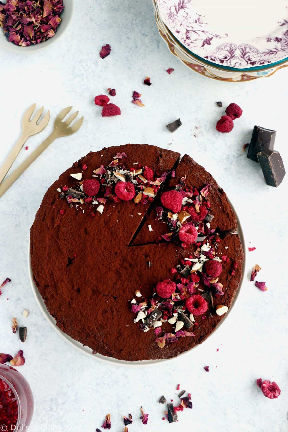 Chocolate Mousse Raspberry Cake