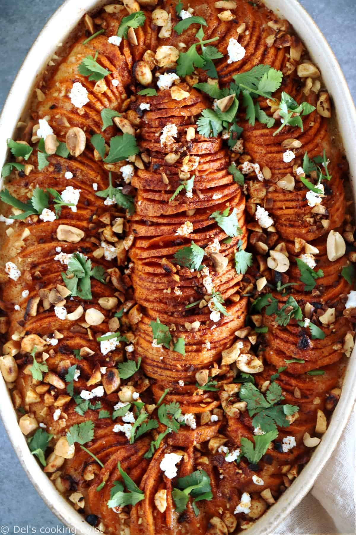 Spicy Sweet Potato and Peanut Butter Gratin
