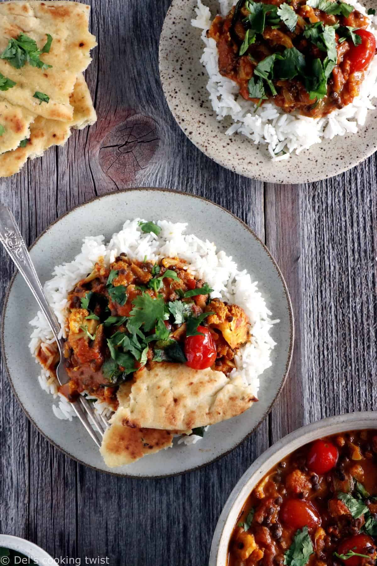 Comforting Cauliflower Lentil Curry