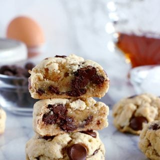 Skinny Coconut Oil Chocolate Chip Cookies