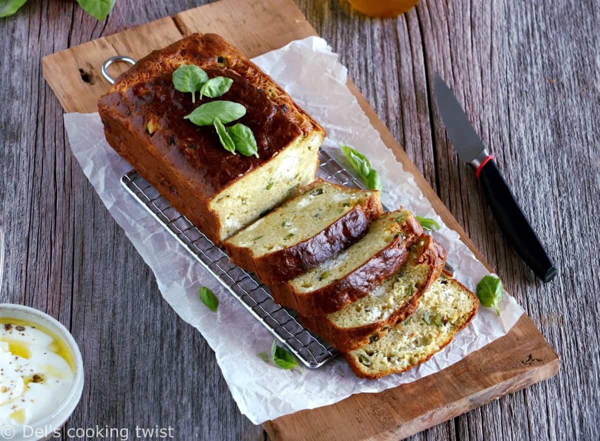 Savory Zucchini Goat Cheese Bread