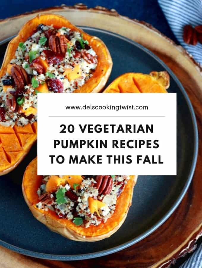 Best vegetarian pumpkin recipes to make this fall. From comforting breakfast recipes and nourishing soups to the best pumpkin pie you'll ever eat, these incredible pumpkin recipes are ones you'll make again and again.