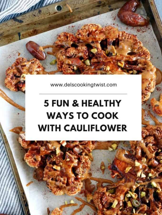 Cauliflower is one of the most versatile vegetables on earth. It has a hearty, meaty texture and makes the most wonderful plant-based dishes. Discover 5 fun, original and healthy ways to cook cauliflower so you never get tired of it.