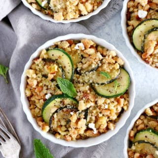 Zucchini Goat Cheese Casserole with Crumble Topping makes a lovely summer dish, bursting with light and refreshing flavors.