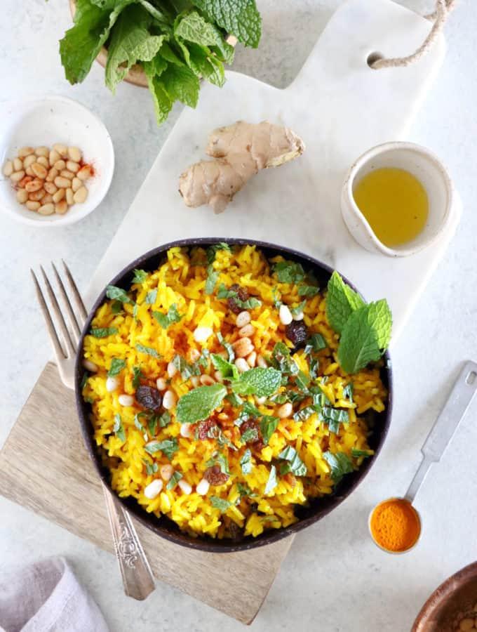 Avec ses épices chaudes et ses arômes audacieux, ce riz basmati parfumé au curcuma constitue un accompagnement d'exception pour vos plats.