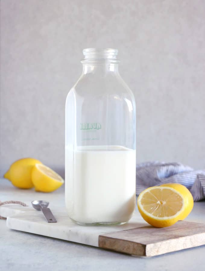 Ever wanted to know how to make homemade buttermilk at home? This 2-ingredient recipe is quick, easy, and works every single time!