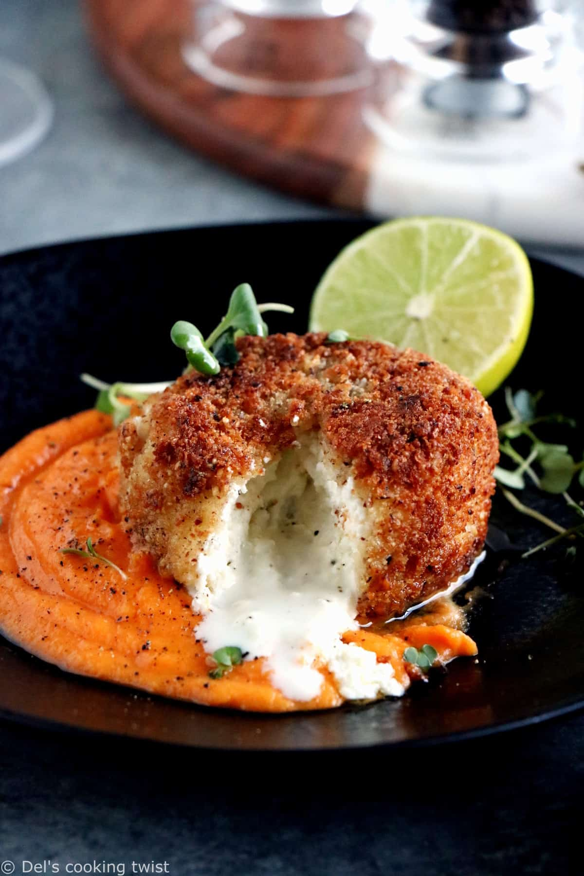 This warm hazelnut-crusted goat cheese recipe is game-changing and packed with warm, hearty and comforting flavors.