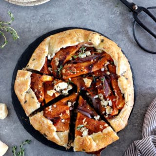 Make the best of winter squash with this simple thyme butternut squash galette with parmesan crust.