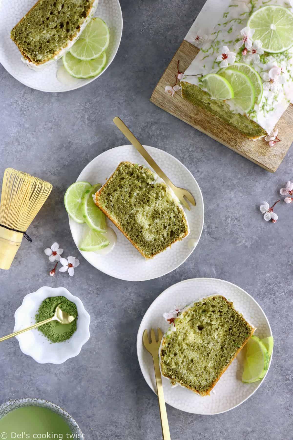 Ce cake marbré au thé matcha et citron vert est l'allié parfait du goûter. Réalisé sans lactose, il offre un subtile équilibre entre la saveur riche, intense et légèrement amère du thé matcha d'un côté et les notes acidulées du citron vert de l'autre.