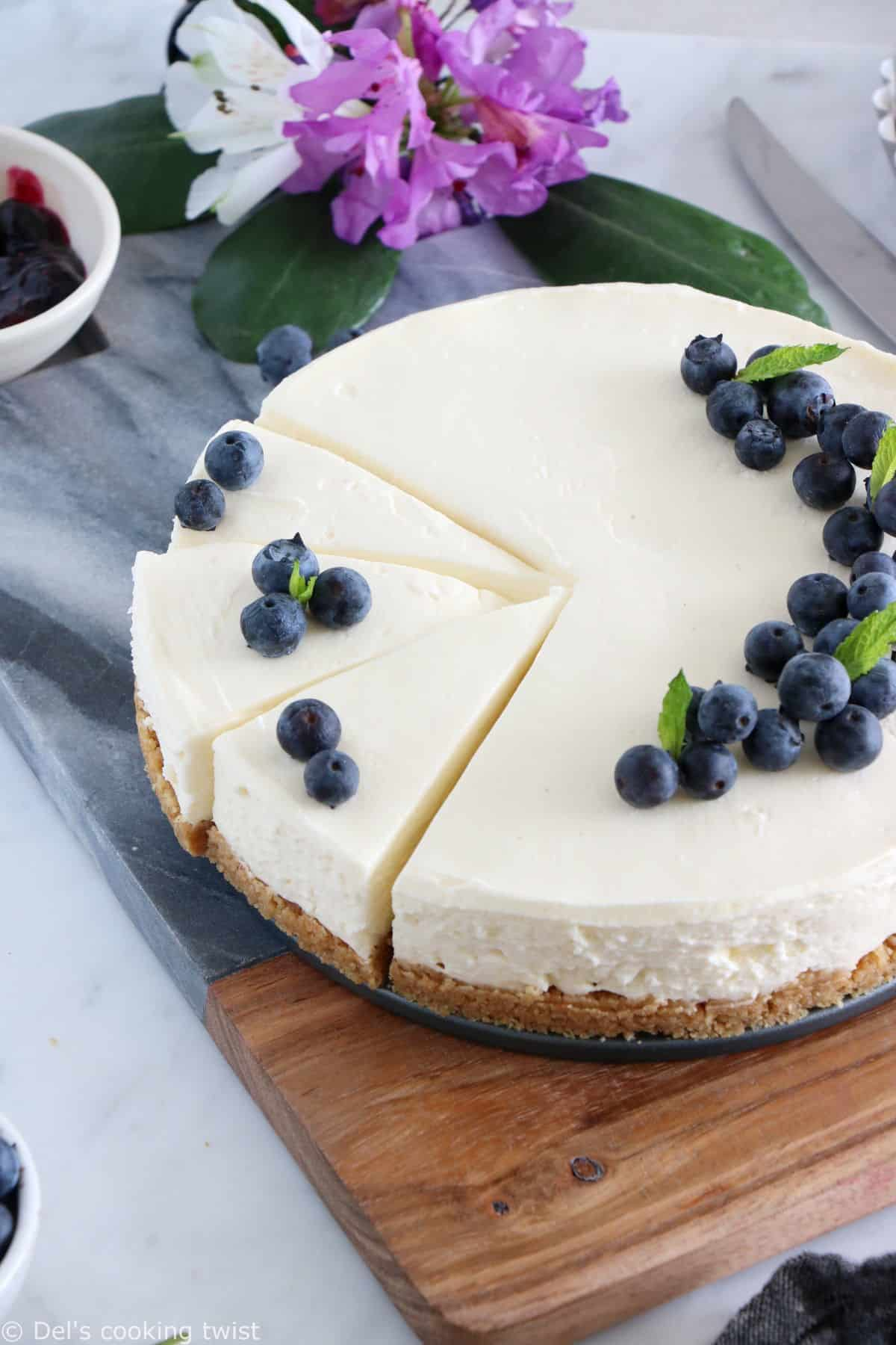 This easy no-bake cheesecake is just perfection. With a few basic ingredients and very minimal effort, you will get a smooth, creamy cheesecake.